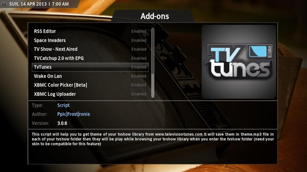 How To Install TVTunes in Kodi 15