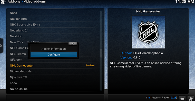 Installing NHL Game Center Step 7