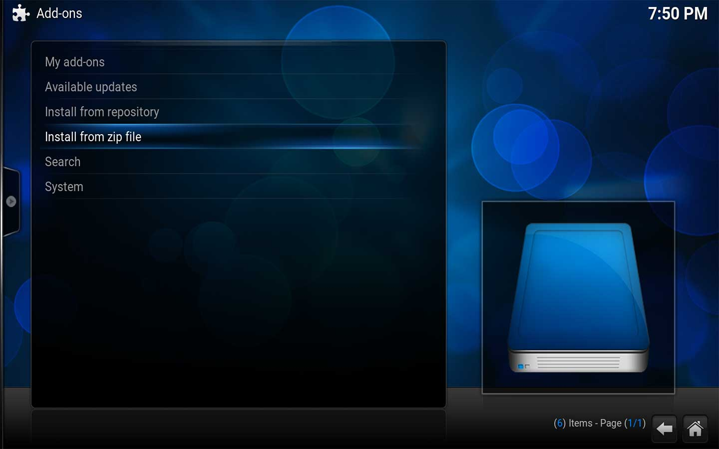 Step 3 To install Phillips Hue in Kodi