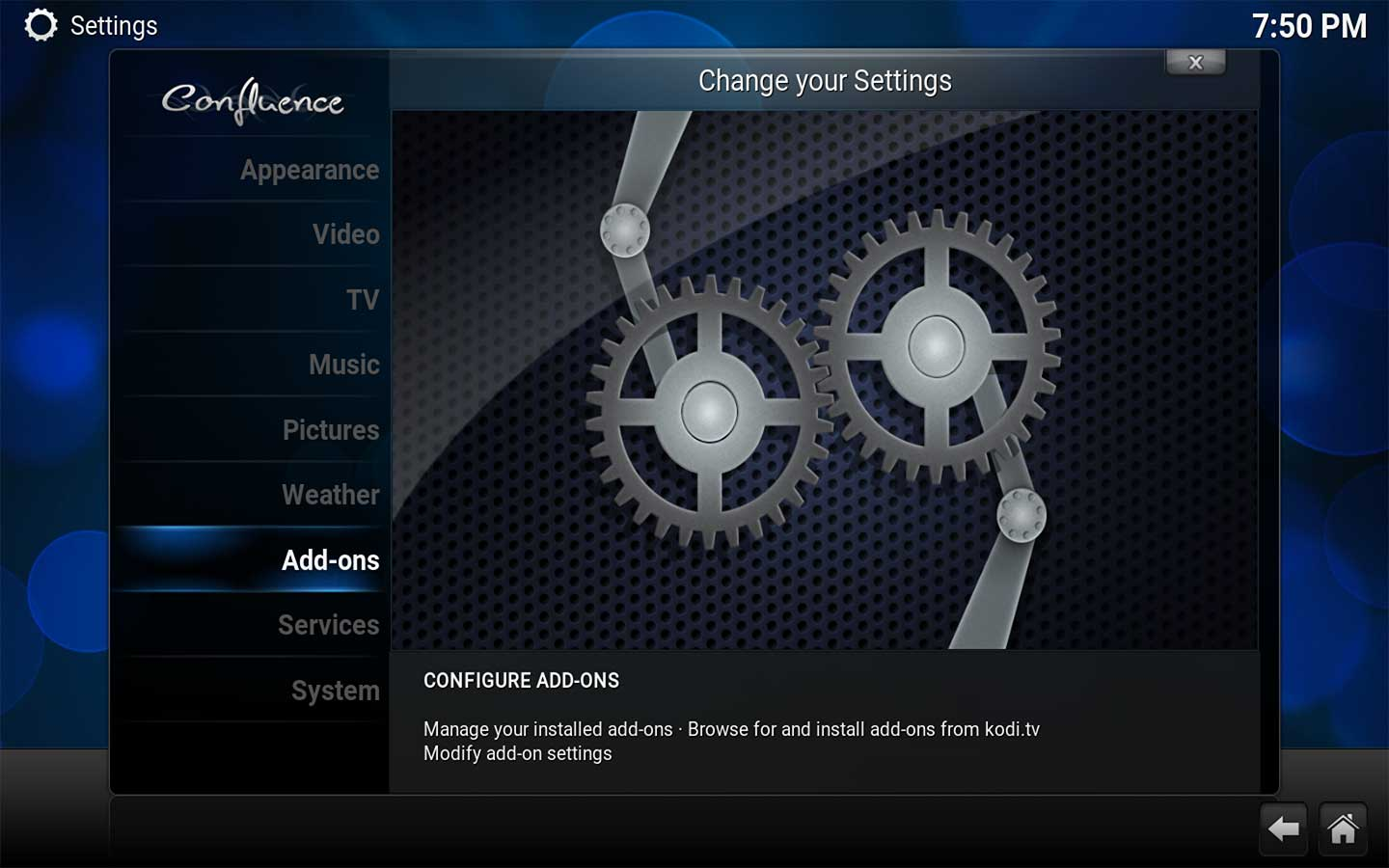Step 2 to install Phillips Hue in Kodi