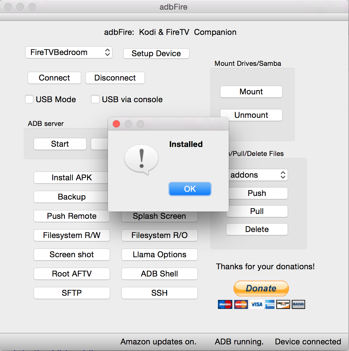 Kodi Installed With ADBFire