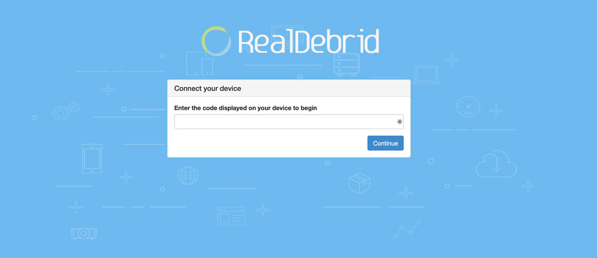 Using Real Debrid in Exodus for Kodi, Inserting your Authorization code