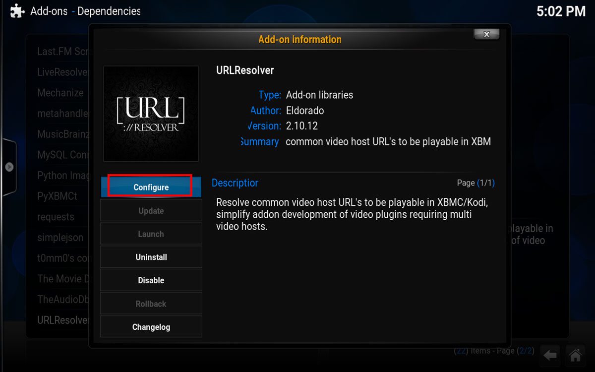 Using Real Debrid in Kodi, Step 6
