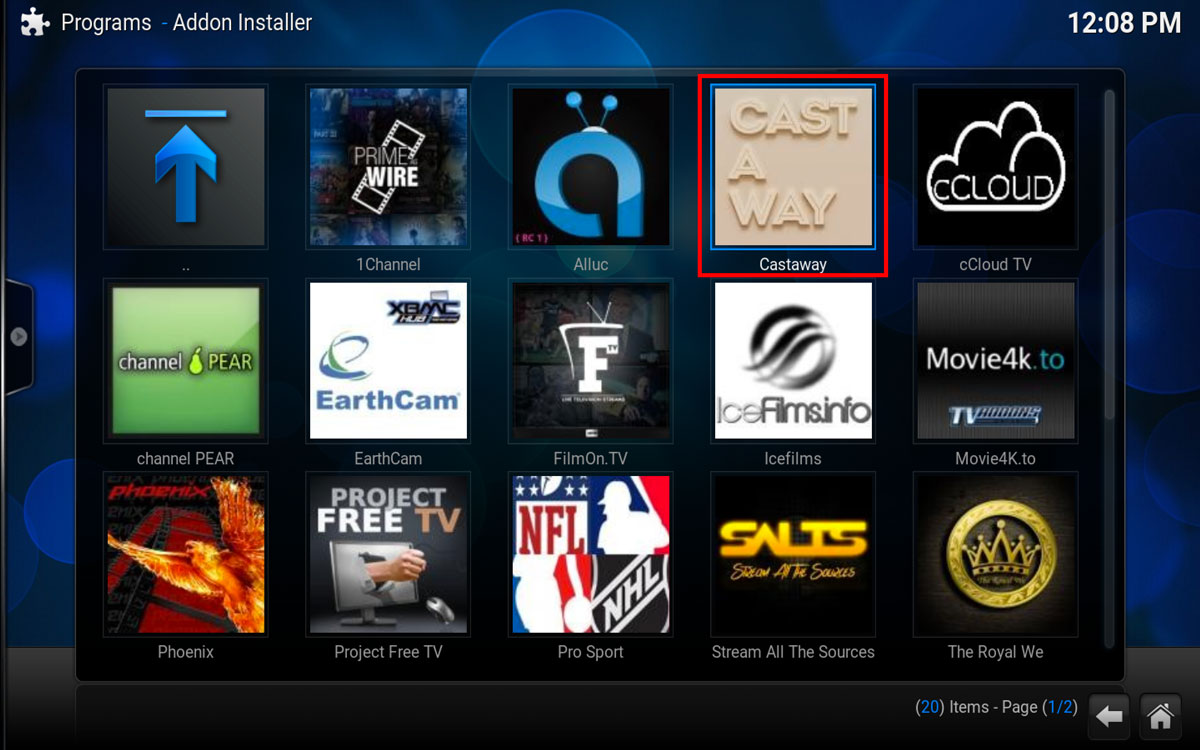 How To Install Cast A Way in Kodi, Step 4