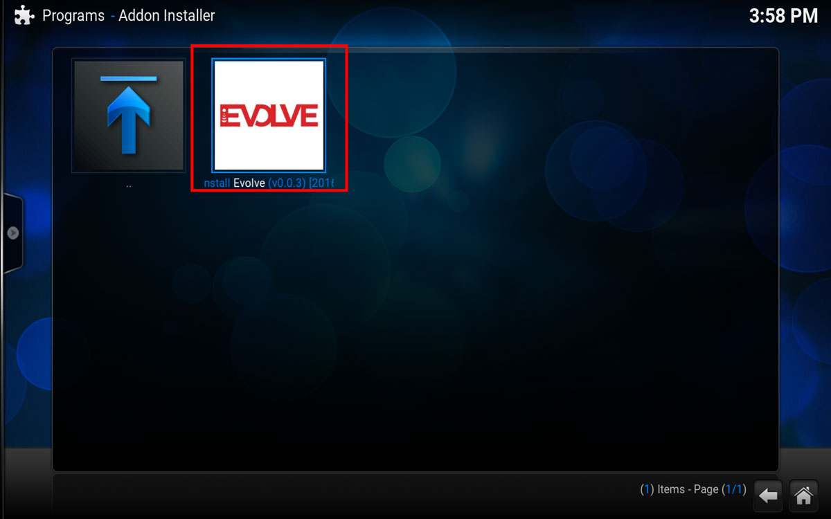 How To Install Evolve in Kodi Step 5