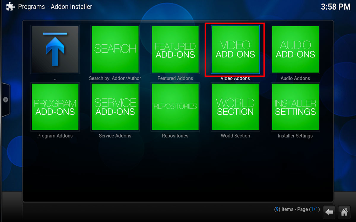 How To Install Evolve in Kodi Step 1