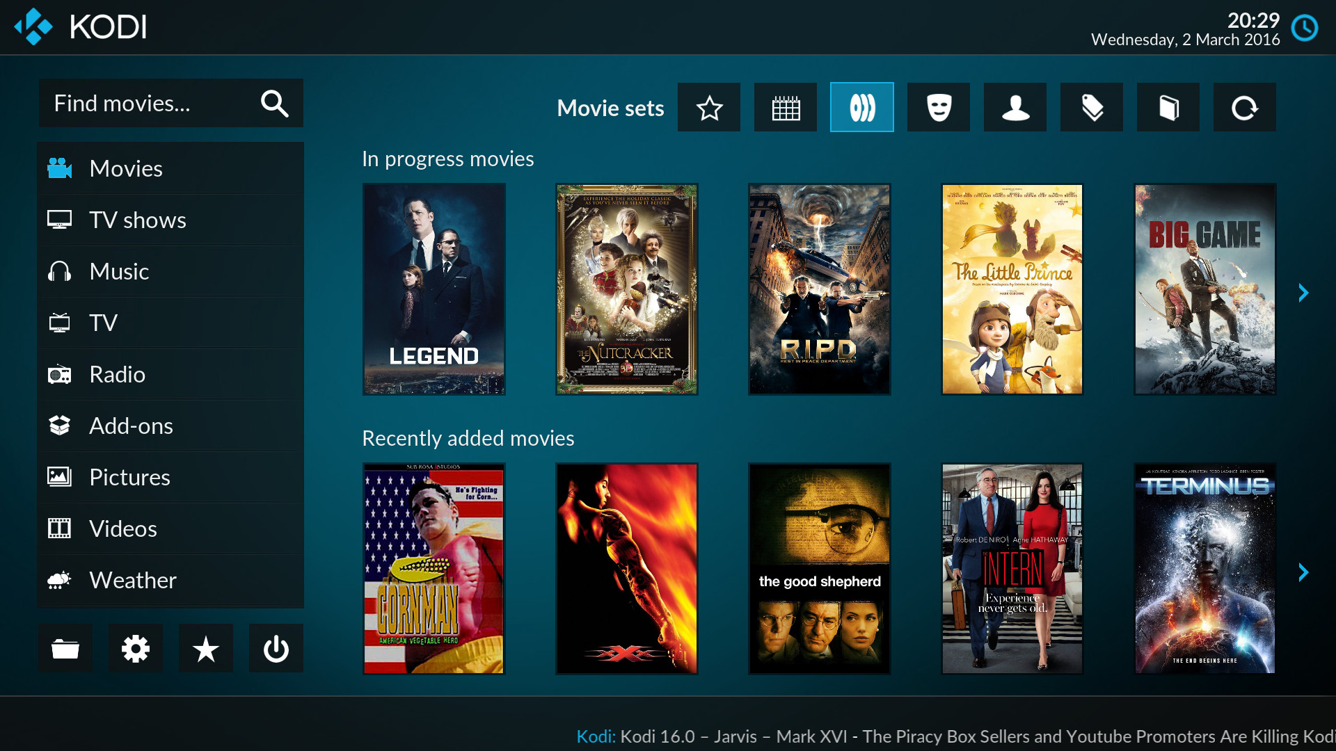 New look For Kodi