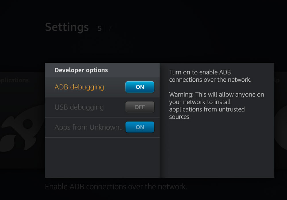 ADB Debugging in Fire TV