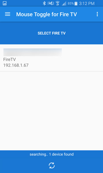 Select the proper IP address for your Fire TV