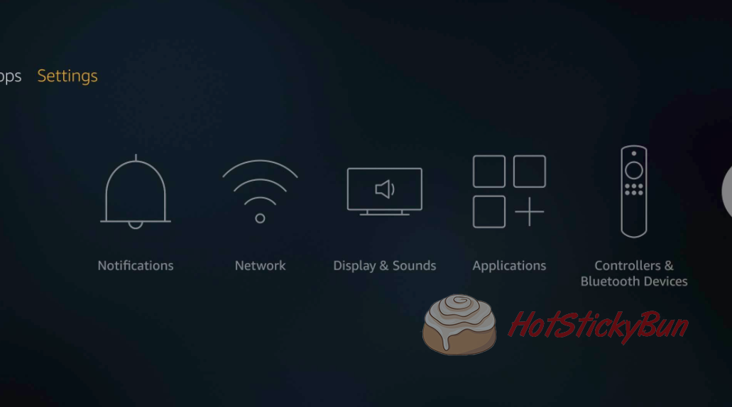 Fire TV Settings Screen