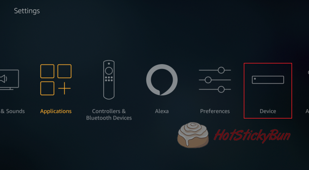Choose Device From Fire TV Menu