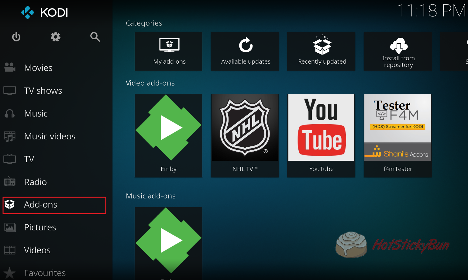 Adding Addons in Kodi