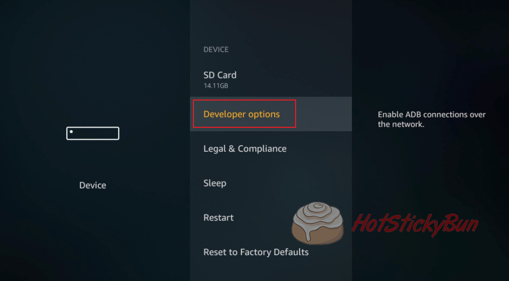 Developer Options oN Fire TV